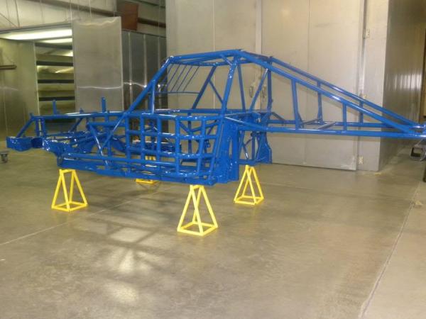 Blue buggy frame