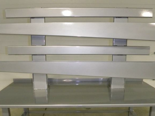Counter top powder coated