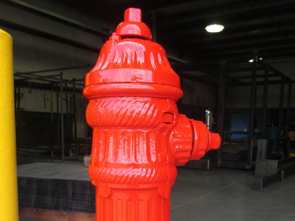 Safety Red Powder Coating on Fire hydrant