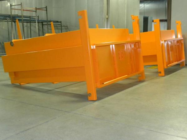 Orange powder coated boxes