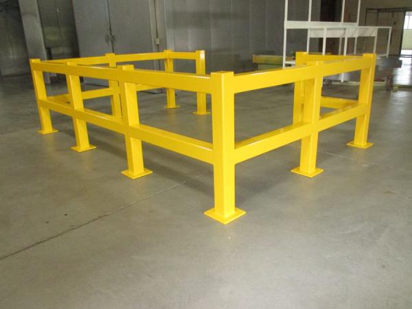 Yellow powder coat safety rail