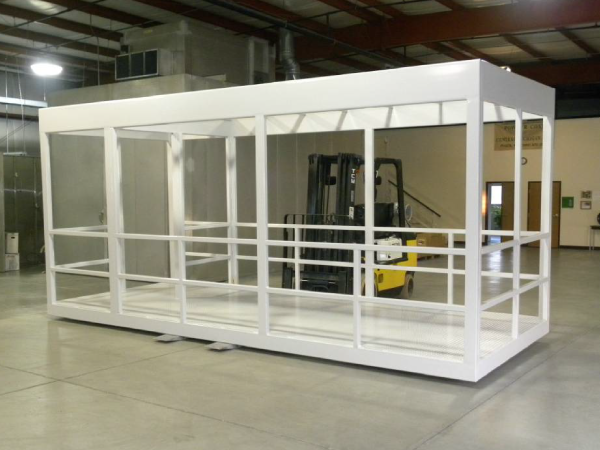 Cage booth powder coated