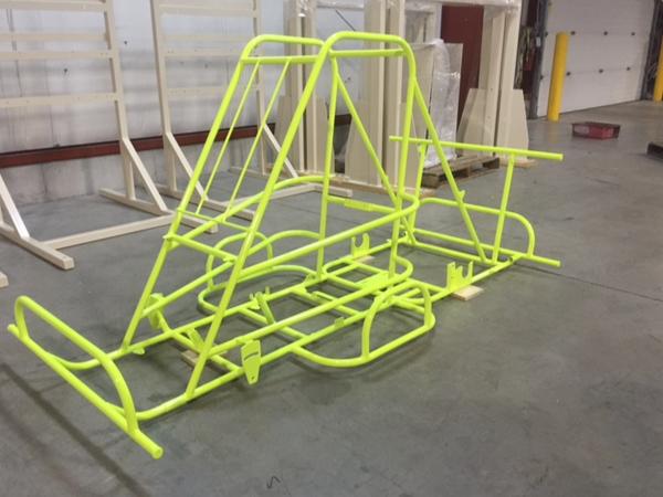 Powder Coat go cart frame