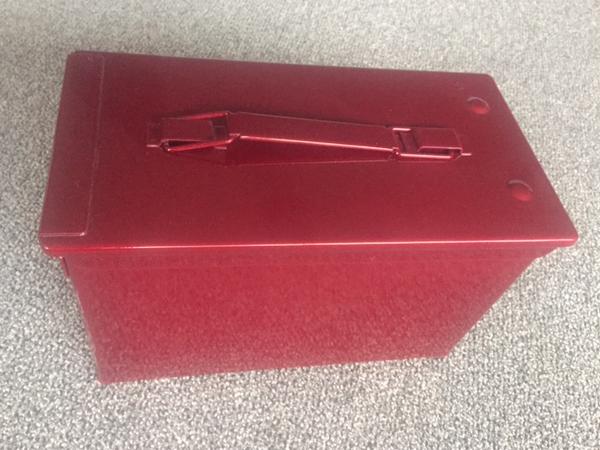 Powder Coat Ammo box Red Sparkle